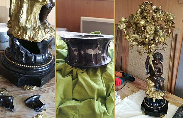 Restauration socle en Marbre